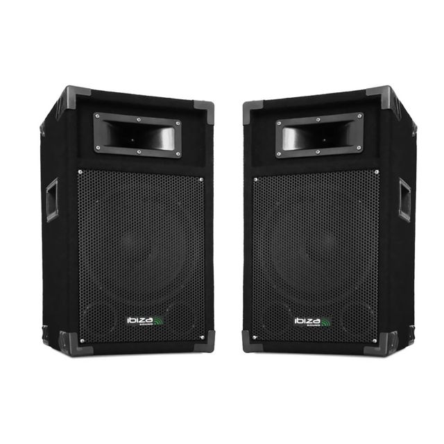 Ibiza Sound Lot de 2 enceintes passives 500W 25cm 10