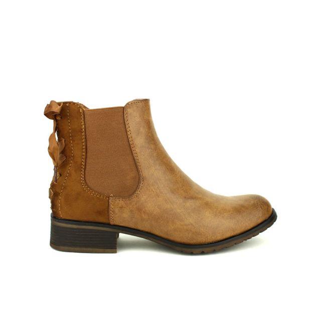 16d675b3494d Cendriyon - Bottine Marron Sixth Sens Mode - pas cher Achat   Vente Boots  femme - RueDuCommerce