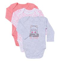 TEX BABY - Lot de 3 bodies bébé KAWAI en coton manches longues