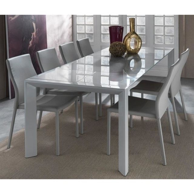 Inside 75 Table repas extensible London Beat en verre