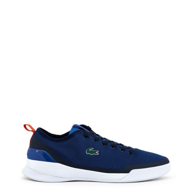 7516d04404d Buzzao - Baskets Lacoste homme bleues - pas cher Achat   Vente Baskets homme  - RueDuCommerce