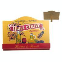 Revimport - Lutrin bois décor Provence jaune ''HUILE D'OLIVE
