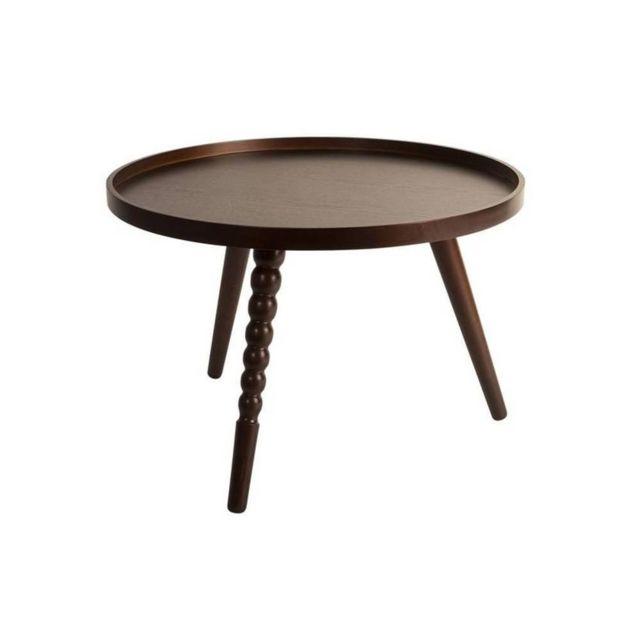 Inside 75 Table basse Arabica de DutchBone 58.5 x 40 cm noyer