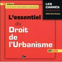 Gualino - l'essentiel du droit de l'urbanisme édition 2017/2018
