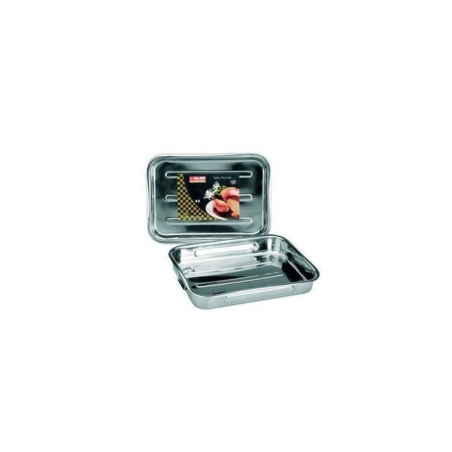 Ibili Plat Rotir Inox Anses Pliantes 31x23.5c