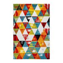 Deladeco - Tapis multicolore design géométrique pour salon Daiki