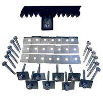 LBH - Kit de fixation 30 vis + rondelles crémaillères de portail coulissant - FIXOR 30