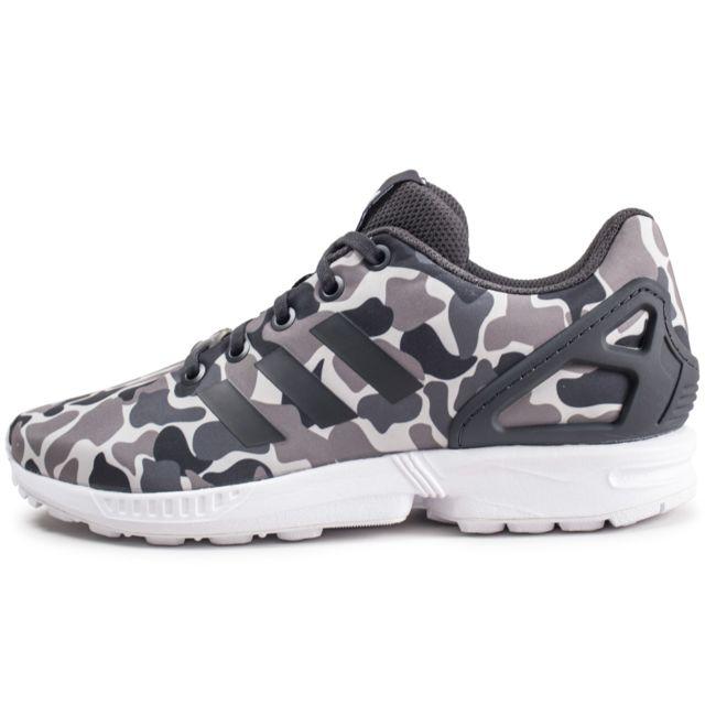 baskets adidas zx flux femme motifs kaki