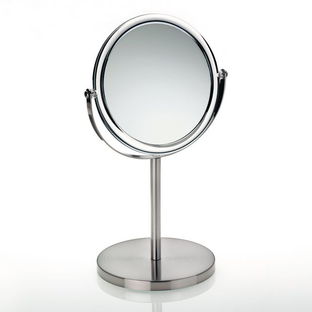 Miroir Grossissant Salle De Bain kela - miroir grossissant salle de bain sur pied en métal chromé et