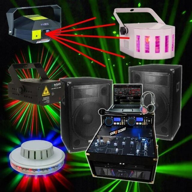 Ibiza Sound Pack dj 1200w - jeux de lumieres laser led
