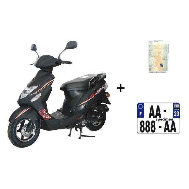 eurocka scooter gtr b 50cc 4t noir mat immatriculation achat vente scooters 50 pas cher. Black Bedroom Furniture Sets. Home Design Ideas
