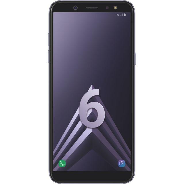 """Samsung Galaxy A6 - Double SIM - Bleu Argenté Débloqué et compatible tous opérateurs - Ecran Panoramique tactile Super AMOLED HD+ 5,6"""" en 720 x 1480 pixels (282,5 ppi) - Android 8.0 Oréo - Surcouche Samsung Expérien"""
