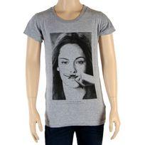 Little Eleven Paris - Tee Shirt Fille Little Seny Kristen Stewart Gris Chiné