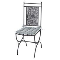 RUE DU COMMERCE - ROMANTIC - Chaise métal Maroc avec coussin - IC169-1.1