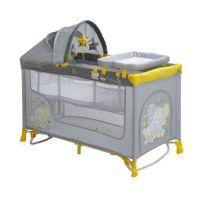 Lit parapluie bébé Lit pliant + mode Lit à bascule Nanny 2+ R jaune
