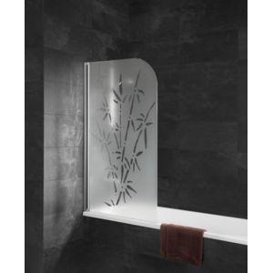 schulte pare baignoire capri paroi de baignoire 80 x 140 cm verre d cor bamboo profil. Black Bedroom Furniture Sets. Home Design Ideas