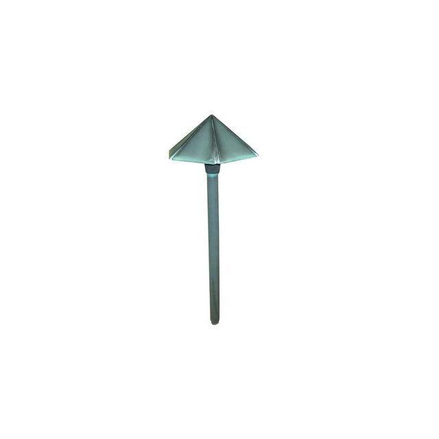 boutica design borne potelet bronze led chapeau lisse 1x1 2w vert de gris garden zone. Black Bedroom Furniture Sets. Home Design Ideas