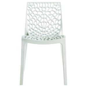 No Name - Chaise design blanche Gruyer Opaque