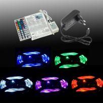 Xcsource - Ruban lumineux de 3m avec 30 Led 5050 Smd Rvb par mètre + télécommande 44 touches + alimentation 12V