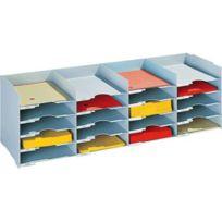 Paperflow - trieur 20 cases format a4 pour armoire - gris