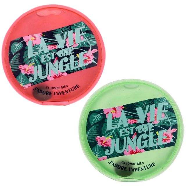 Promobo Lot 2 Mini Bouillotte Chaufferette Poche Inscription La Vie Est Une Jungle