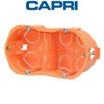 Capri - Boîte d'encastrement double entraxe 57 Capriclips