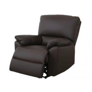 vente unique fauteuil relax lectrique en cuir marcis chocolat achat vente canap s pas. Black Bedroom Furniture Sets. Home Design Ideas
