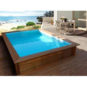 Habitat et jardin piscine bois rectangle toledo x for Piscine bois habitat et jardin