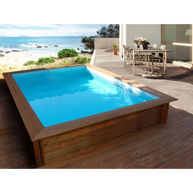 habitat et jardin piscine bois rectangle toledo 300 x 200 x 071 m