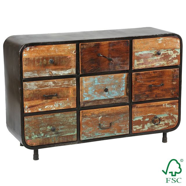 Altobuy Calliste - Commode 9 Tiroirs