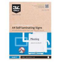 3L - Paquet de 10 pochettes de plastification adhésive