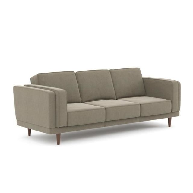 CANAPE - SOFA - DIVAN BETTY Canapé 3 places - Tissu Beige - L 225 x P 92 x H 85 cm