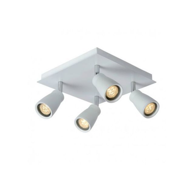 Lucide Spot Lana Led quadruple Ip44 blanc