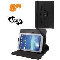 Yonis - Housse universelle tablette tactile 8 pouces support 360° Noir