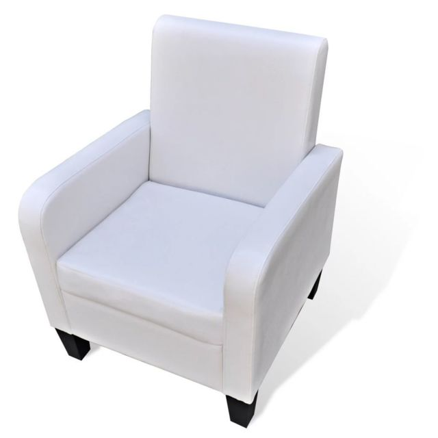 Uco Fauteuil Blanc Similicuir