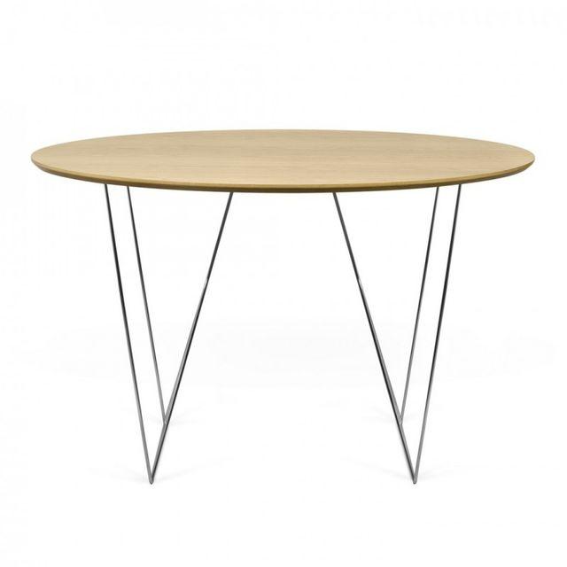 Paris prix temahome table de repas row 120cm chêne argent