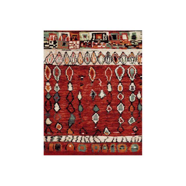 allotapis tapis ethnique rouge pour salon en polypropyl ne rodez pas cher achat vente. Black Bedroom Furniture Sets. Home Design Ideas