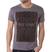 BLZ Jeans - T-shirt Homme Gris Délavé