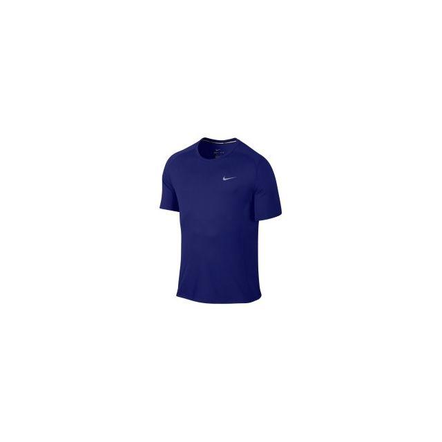 Nike Maillot Dri FIT Miler à manches courtes bleu pas