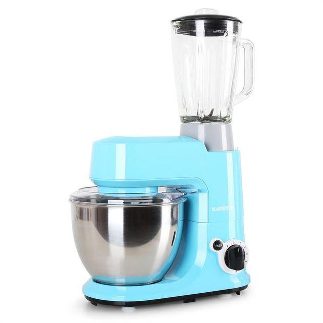 KLARSTEIN Set Carina Azzura 800W Robot de cuisine mixeur 1,5L