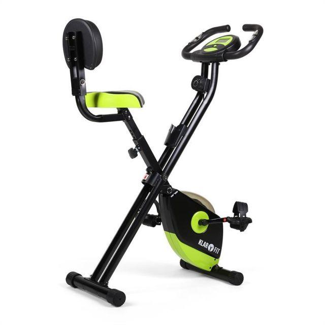 KLARFIT - X-Bike 700 Vélo d'appartement ergomètre pulsomètre pliable -vert/noir Régulière