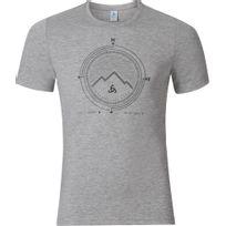 Odlo - Signo - T-shirt manches courtes - gris/blanc