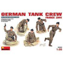 Miniart - Figurines 2ème Guerre Mondiale : Équipage de chars allemand : France 1944