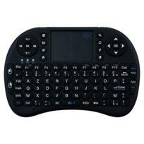 Shot - Mini clavier Bluetooth pour Sony Xperia M4 Aqua Smartphone Sans Fil Azerty Rechargeable NOIR