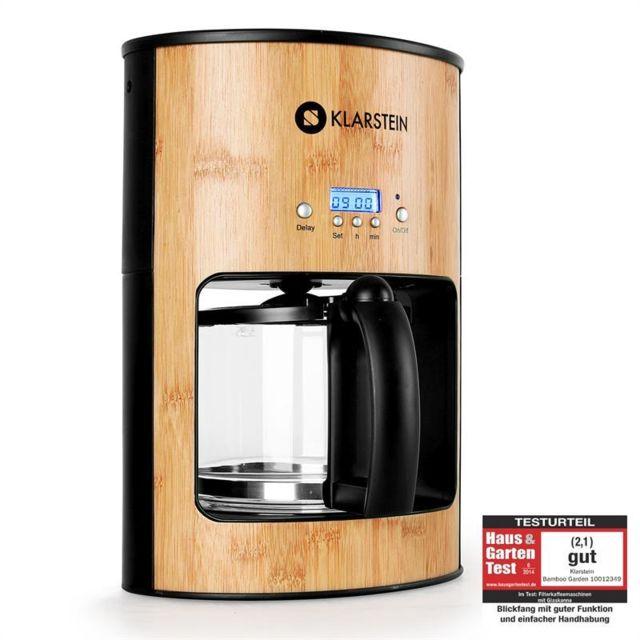 KLARSTEIN Bamboo Garden Machine à café 1080W 1,25L bambou