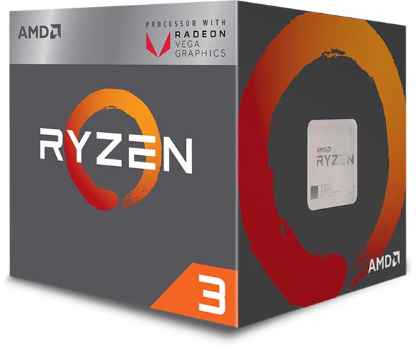 processeur AMD Ryzen 3 2200G Wraith Stealth Edition