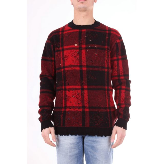 Overcome Homme Oc11U931RED Rouge Laine Maille