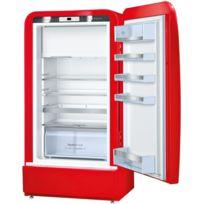 Bosch - réfrigérateur 1 porte 66cm 154l a++rouge - ksl20ar30