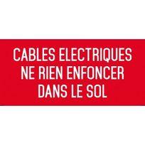Editions Uttscheid - Câbles électriques ne rien enfoncer dans le sol - Autocollant Vinyl Waterproof - L.200 x H.100 mm