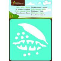 Avenue Mandarine - Pochoirs Set de 6 pochoirs : Légumes
